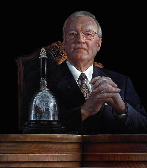 Ivar Hansen, Chairman of the Danish Parliament 2003 100 x 100 cm - Thomas Kluge