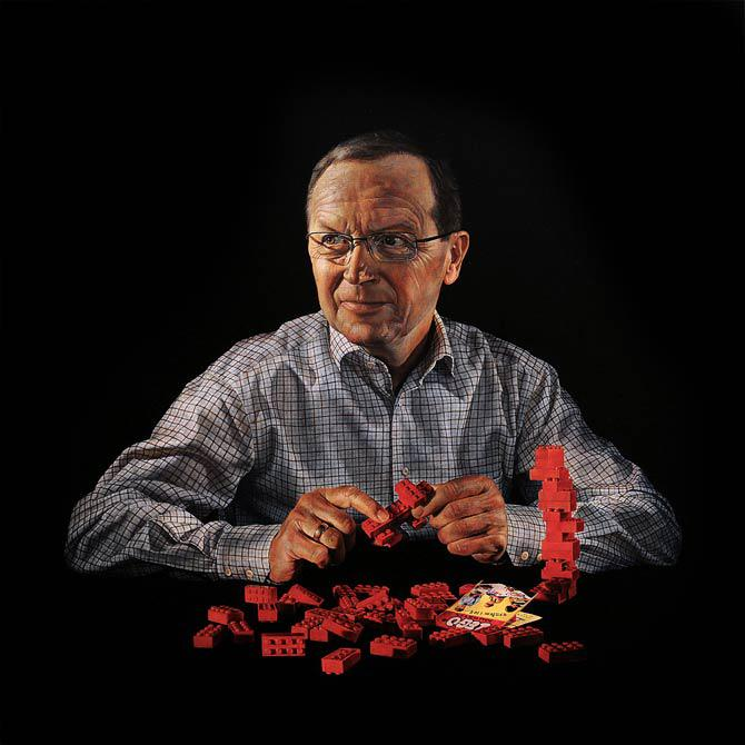 Kjeld Kirk Kristiansen Owner of the Lego Group 2008 115 x 115 cm - Thomas Kluge